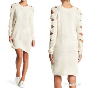 NWT Nordstrom Ladder Sleeve Sweater Dress Size M